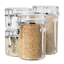 canister set for kitchen oggi 4 acrylic canister set with airtight lids