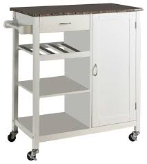 kitchen storage cabinet cart wood and marble kitchen storage cart white