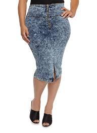 denim skirts plus size denim skirts rainbow