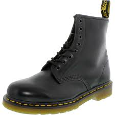 Dr Martens Air Wair 1460 Mens Size 9 Black Leather Work Boots Uk