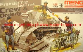 french renault tank french ft 17 light tank crew u0026 ordery meng model hs005