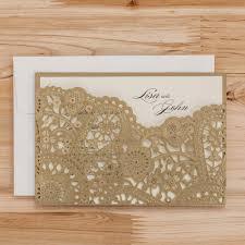 laser cut wood invitations aliexpress com buy laser cut wedding invitations cards flowers