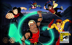 young justice young justice outsiders u0027 showcases more mature heroes sdcc2017