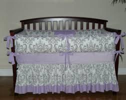Lilac Damask Crib Bedding Damask Baby Bedding Purple Vine Dine King Bed Damask Baby