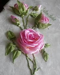 silk ribbon roses ribbon vyšívanie ribbon ribbon