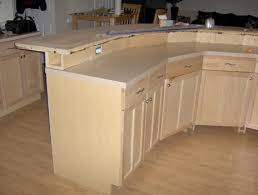 2 tier kitchen island construction detail 2 tier kitchen island with electrical in bump