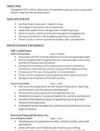 Junior Accountant Sample Resume by Accountant Resume Haadyaooverbayresort Com