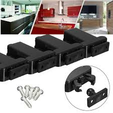 touch latch cabinet hardware 4pcs push to open drawer cabinet catch touch latch release kitchen