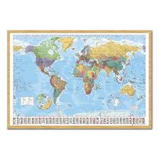 Pin World Map by World Map U0026 Flags Pinboard Cork Board With Pins Iposters