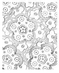 beautiful flower mosaic coloring page download u0026 print online