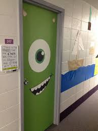 halloween door decor a small world pinterest monster incorporated