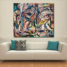 Home Decoration Online Shop Online Shop Qcart Jackson Pollock Canvas Painting For Living Room