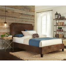 Canterbury Bedroom Furniture by Canterbury Queen Bed With Bonded Leather Upholstered Exterior And