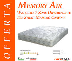 materasso in waterfoam materasso memory foam mod memory air 7 zone differenziate