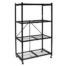 origami 20 second rack with 4 shelves and wheels large pewter