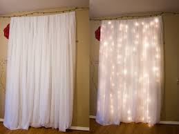 do it yourself sheer curtains christmas lights and dangles