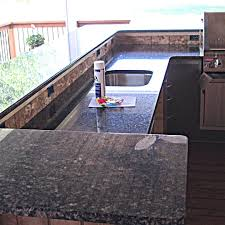 granite outdoor kitchen countertop w 3 8 u2033 radius top bottom edge