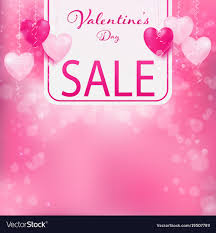 valentines sale valentines day sale banner royalty free vector image