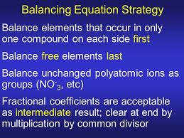 balancing equation strategy