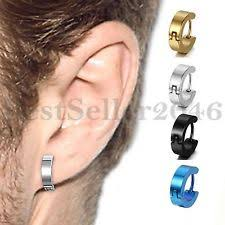mens huggie earrings huggie earrings studs for men ebay