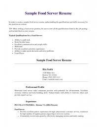 gallery of restaurant server resume template free resume templates