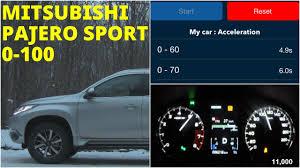 mitsubishi pajero sport acceleration 0 100 km h racelogic