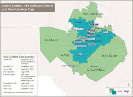 isd map acc district and service area community college district