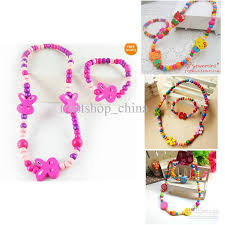 bracelet design beads images Children jewelry mixed design cute wood beads necklace amp jpg