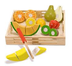 amazon com melissa u0026 doug cutting fruit set wooden play food