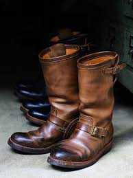 boots moto chromexcel leather engineer boots 1st model leather arts