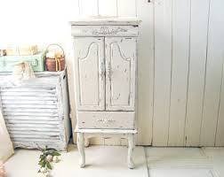 shabby chic armoire etsy