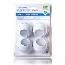 Led Night Light Bulb maxxima mln 10 led night light with dusk to dawn sensor pack of 4