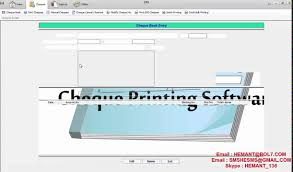 Free Cheque Template Simple Cheque Printing Software Youtube