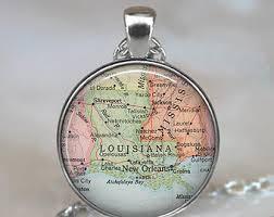 louisiana state map key louisiana map etsy
