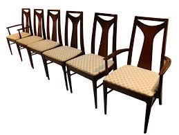Modern Walnut Dining Chairs Mid Century Modern Walnut High Back Dining Chairs