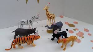 safari cake toppers gold safari party animal pack gold jungle animal cake topper set
