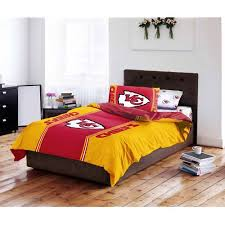 Kansas City Chiefs Bathroom Accessories by Nfl Kansas City Chiefs Bed In A Bag Complete Bedding Set Walmart Com