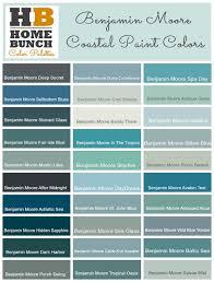 coastal paint colors by benjamin moore coastal home decor