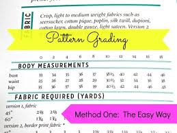 pattern grading easy easy pattern grading allfreesewing com