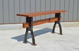 bar height table industrial custom industrial farmhouse rustic minimalist bar height table by