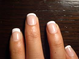 very short acrylic nails but they do ruin your real nails