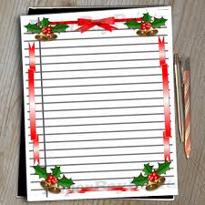 border writing paper printable lined scrapbook paper with christmas border digital this is a digital file