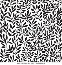 seamless floral handdrawn pattern leaf background stock vector