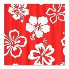 hibiscus shower curtains foter
