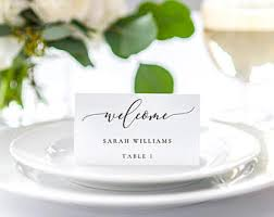 place cards printable place card etsy