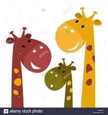 happy cartoon giraffes kids illustration stock photo royalty
