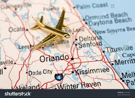 Map Of Ocala Fl Golden Plane Over Central Florida This Stock Illustration 27716491