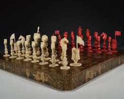 White Chess Set Antique Macao Ivory Figural Chess Set Richard Gardner Antiques