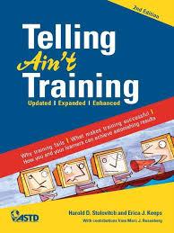 telling ain u0027t training 2nd edition 2011 educational