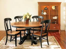 Amish Home Decor Furniture 5 Piece Dining Set Of Pedestal Dining Table With Flower